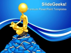 Yoga On Books Education PowerPoint Themes And PowerPoint Slides 0711