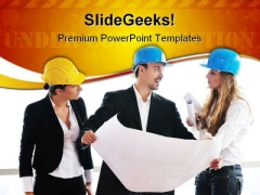 Young Architect Real Estate PowerPoint Themes And PowerPoint Slides 0611