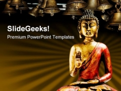 Zen Buddha Statue Religion PowerPoint Templates And PowerPoint Backgrounds 0711