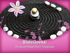 Zen Garden Spa Nature PowerPoint Themes And PowerPoint Slides 0811
