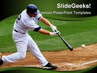 baseball sports powerpoint template 0610 - powerpoint themes, Powerpoint templates