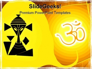 hindu_ganesha_religion_powerpoint_template_0610_title