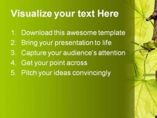 leaves_green_nature_powerpoint_template_1110_text