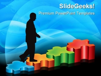 puzzle_stairs_solution_business_powerpoint_templates_and_powerpoint_backgrounds_1211_title