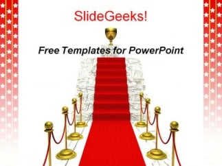 winner podium powerpoint presentation template - powerpoint themes, Presentation templates