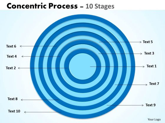10 Staged Circular Business Diagram