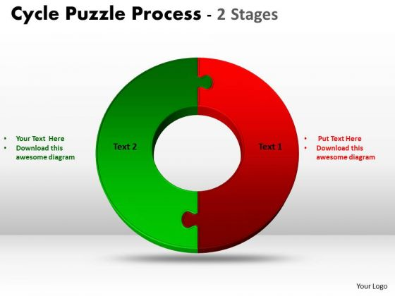 Business Cycle Diagram 2 Stage Cycle Diagram Puzzle Process Strategic Management