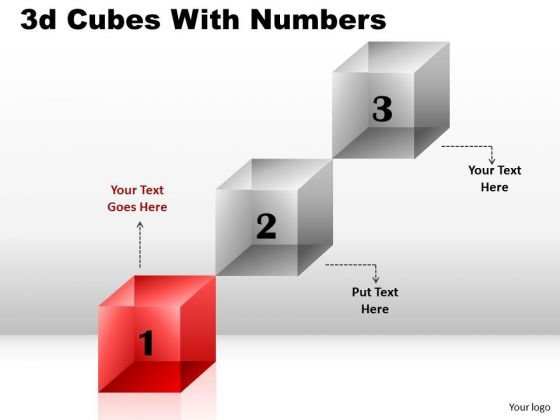 Business Cycle Diagram 3d Cubes With Numbers Diagram Consulting Diagram