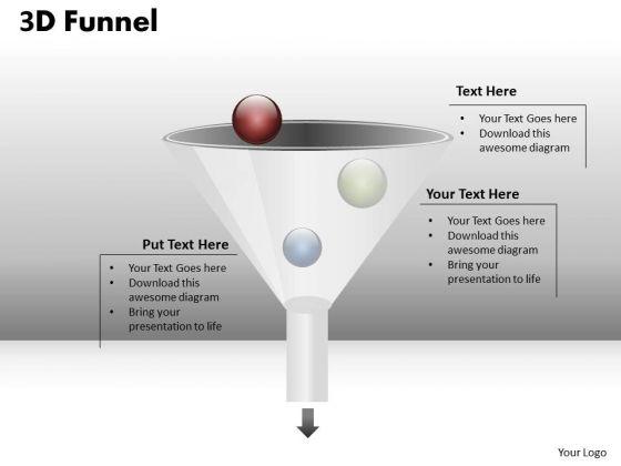 Business Cycle Diagram 3d Process Funnel Diagram Strategy Diagram