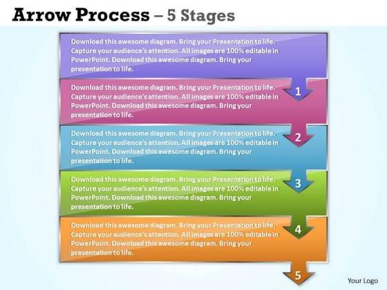 Business Cycle Diagram 5 Concepts Arrow Process Sales Diagram