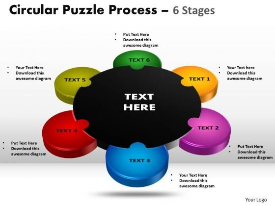 Business Cycle Diagram 6 Stages Circular Diagram Puzzle Business Diagram