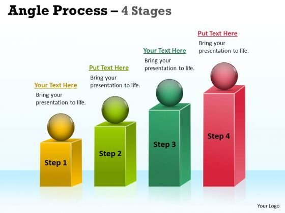 Business Cycle Diagram Angle Process With 4 Stages Consulting Diagram
