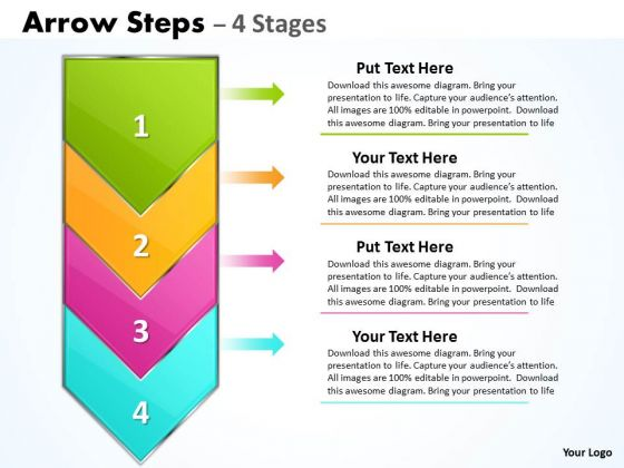 Business Cycle Diagram Arrow 4 Steps Diagram Marketing Diagram