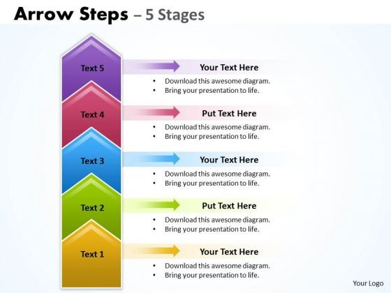 Business Cycle Diagram Arrow Steps 5 Stages Marketing Diagram
