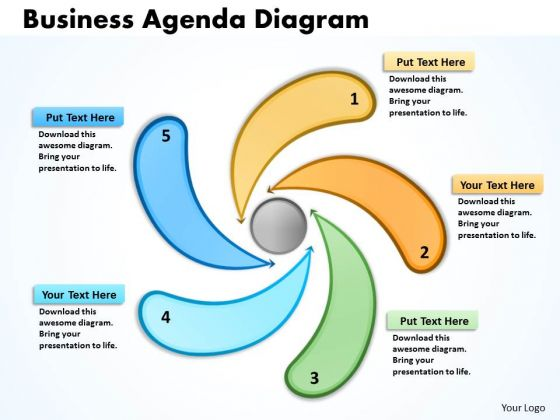 Business Cycle Diagram Business Agenda Diagrams Strategy Diagram
