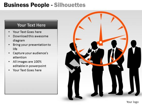 Business Cycle Diagram Business People Silhouettes Mba Models And Frameworks