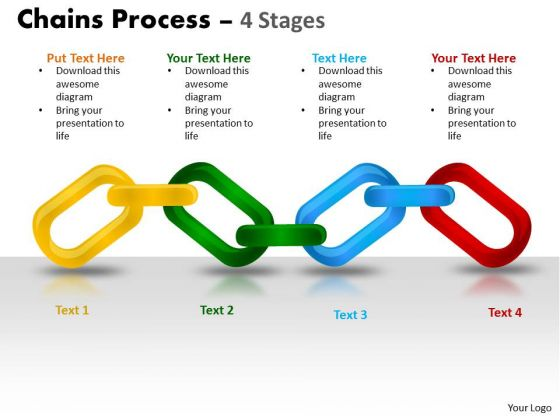 Business Cycle Diagram Chains Process 4 Stages Business Diagram