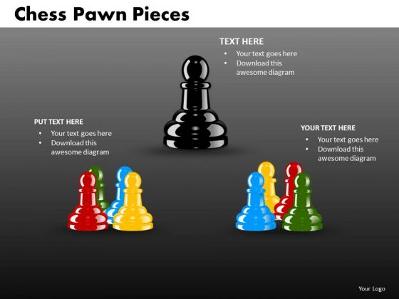 Business Cycle Diagram Chess Pawn Pieces Sales Diagram