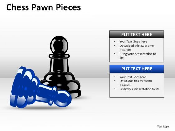 Business Cycle Diagram Chess Pawn Pieces Strategic Management