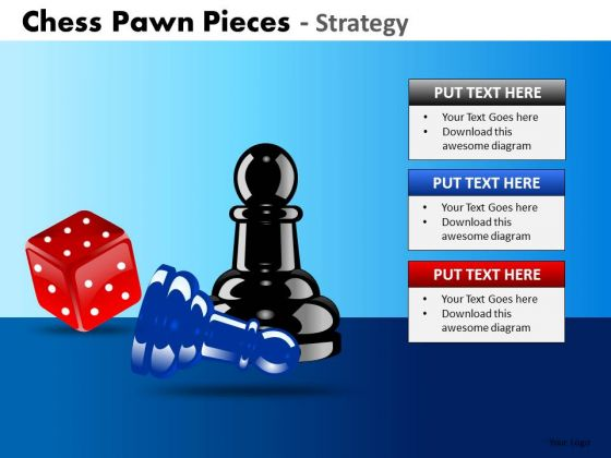 Business Cycle Diagram Chess Pawn Pieces Strategy Business Diagram