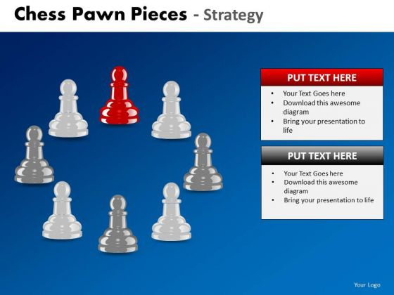 Business Cycle Diagram Chess Pawn Pieces Strategy Marketing Diagram