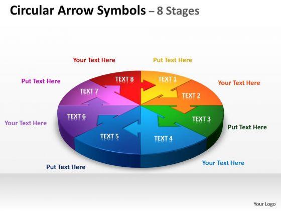 Business Cycle Diagram Circular Arrow Diagram Symbols 8 Stages Sales Diagram