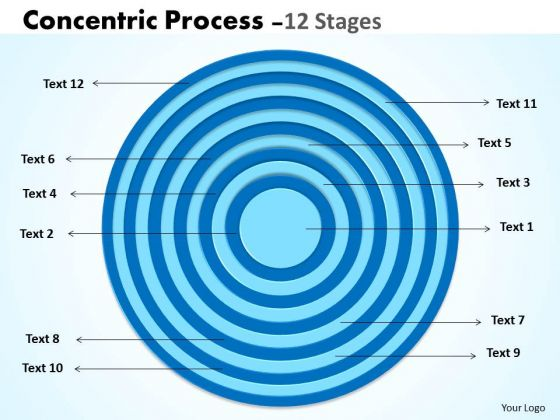 Business Cycle Diagram Circular Concentric Process Strategic Management