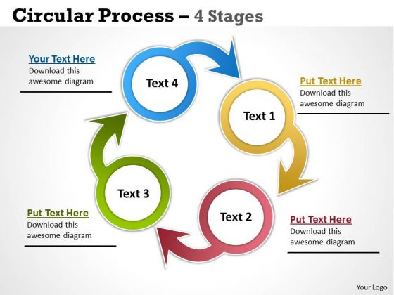 Business Cycle Diagram Circular Process 4 Stages Business Diagram