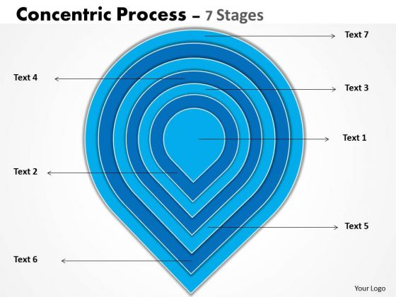 Business Cycle Diagram Concentric Process 7 Stages Business Diagram