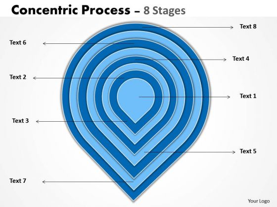 Business Cycle Diagram Concentric Process With 8 Stages Strategy Diagram