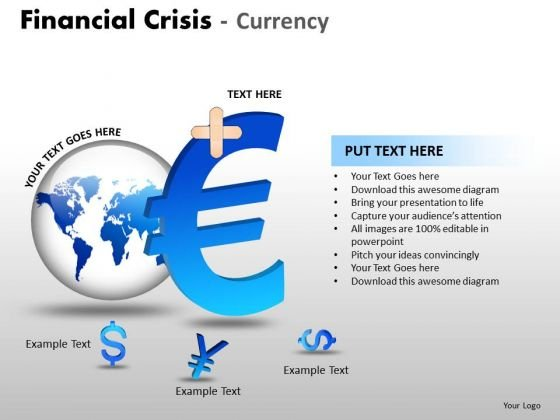 Business Cycle Diagram Financial Crisis Currency Marketing Diagram
