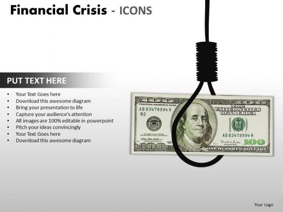 Business Cycle Diagram Financial Crisis Icons Strategy Diagram