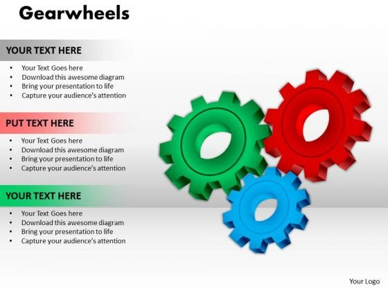 Business Cycle Diagram Gearwheels Business Framework Model