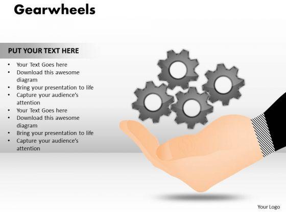 Business Cycle Diagram Gearwheels Marketing Diagram
