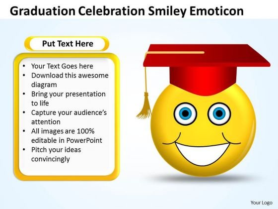 Business Cycle Diagram Graduation Celebration Smiley Emoticon Consulting Diagram