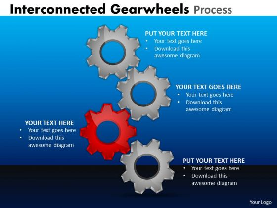 Business Cycle Diagram Interconnected Gearwheels Process Business Diagram
