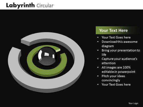 Business Cycle Diagram Labyrinth Circular Strategic Management