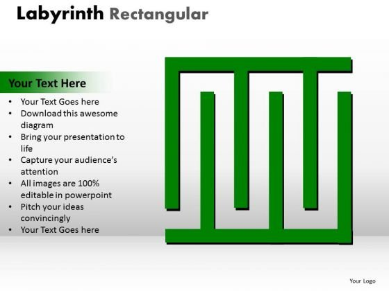 Business Cycle Diagram Labyrinth Rectangular Marketing Diagram