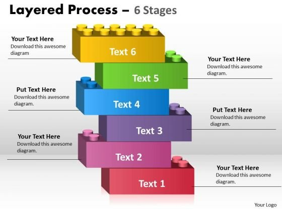 Business Cycle Diagram Layered Process 6 Stages Stratified Consulting Diagram