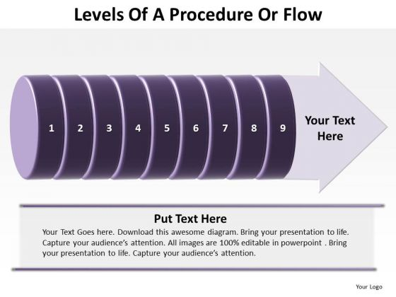Business Cycle Diagram Levels Of A Procedure Or Flow 9 Stages Marketing Diagram