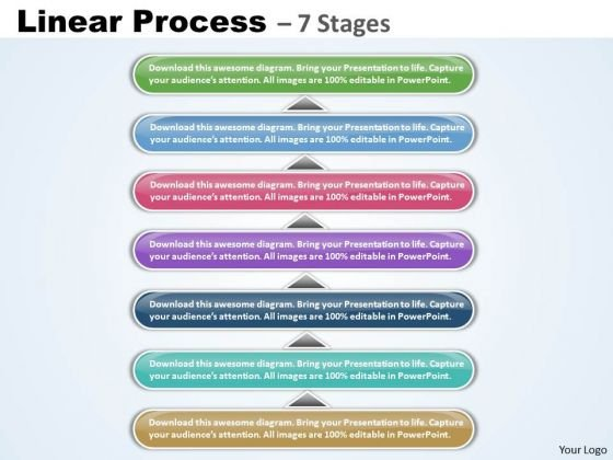 Business Cycle Diagram Linear Process With 7 Stages Strategy Diagram