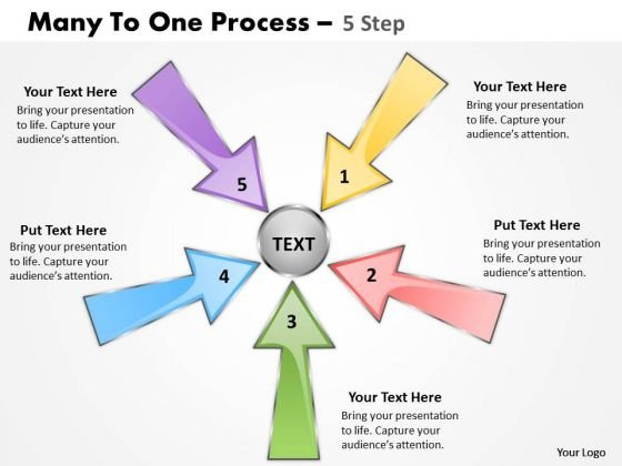 Business Cycle Diagram Many To One Process 5 Step Consulting Diagram