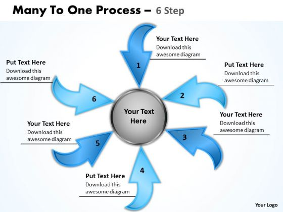 Business Cycle Diagram Many To One Process 6 Step 15 Consulting Diagram