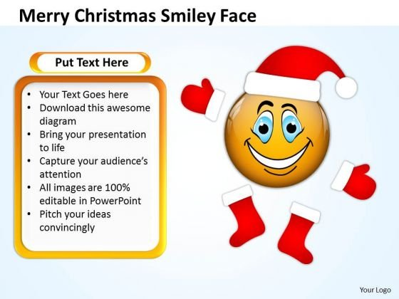 Business Cycle Diagram Merry Christmas Smiley Face Business Diagram