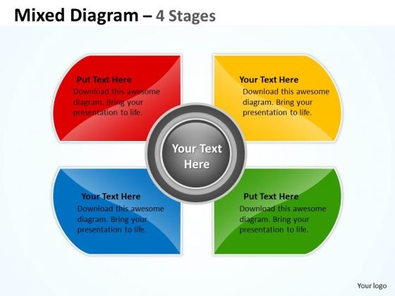 Business Cycle Diagram Mixed Diagram For Business Development 4 Stages Strategy Diagram