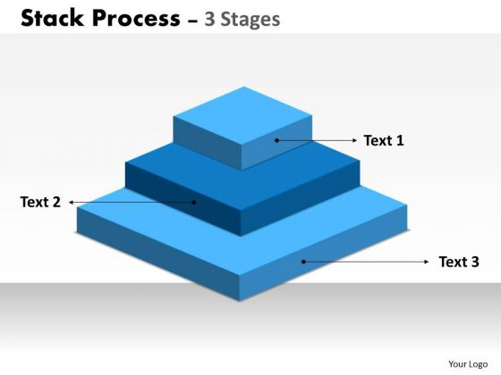 Business Cycle Diagram Stack Process 3 Stages For Marketing Strategy Diagram