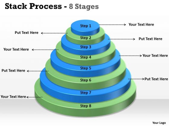 Business Cycle Diagram Stack Process With 8 Stages For Marketing Business Framework Model