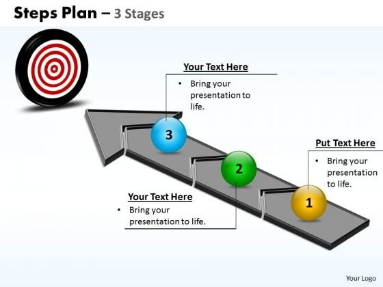 Business Cycle Diagram Steps Plan 3 Stages Business Finance Strategy Development