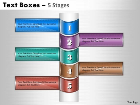 Business Cycle Diagram Text Boxes 5 Stages Diagram Consulting Diagram