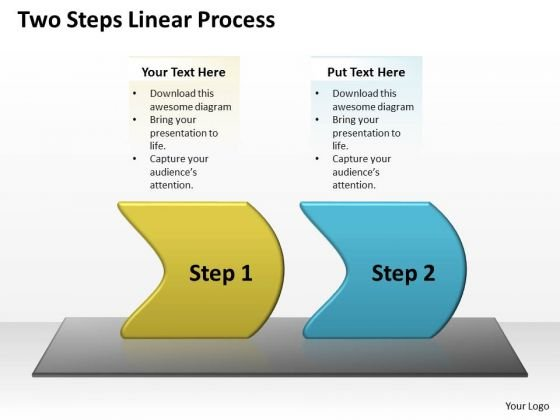 Business Cycle Diagram Two Steps Linear Process